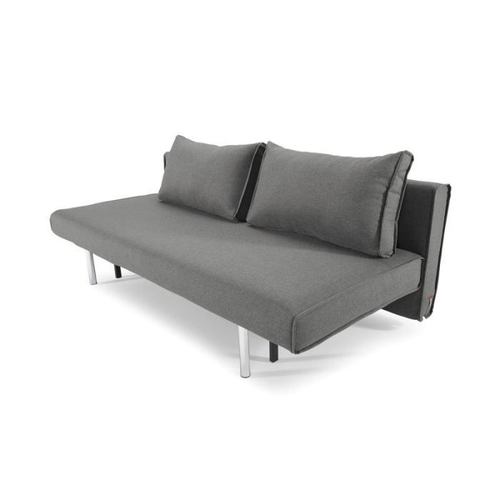 Canap lit design lob gris convertible 190 137cm achat for Canape lit design