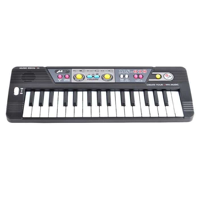 32 touches piano clavier lectronique avec microphone jouet musical pour enfants ms018 noir. Black Bedroom Furniture Sets. Home Design Ideas