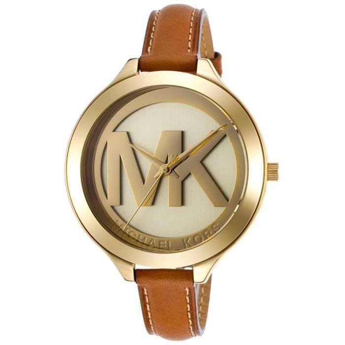 montre femme bracelet cuir michael kors. Black Bedroom Furniture Sets. Home Design Ideas