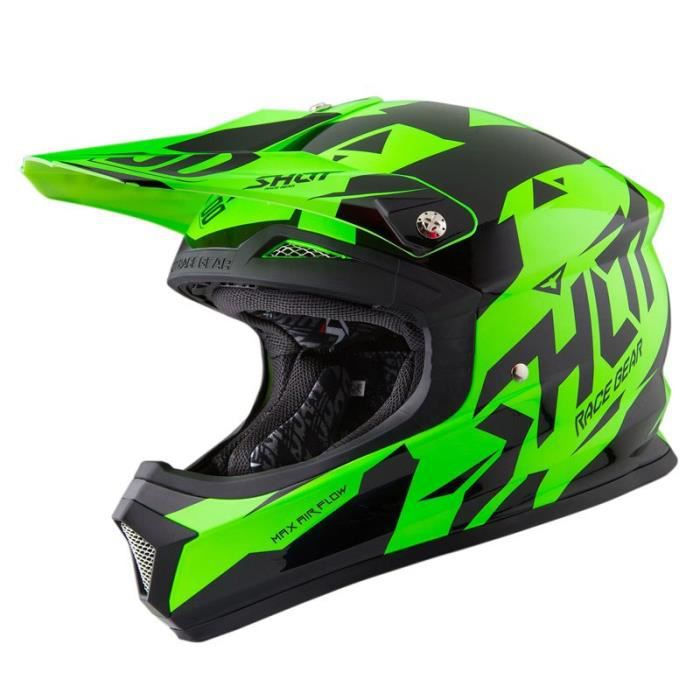 casque cross shot furious splinter vert fluo shot 2016 achat vente casque moto scooter. Black Bedroom Furniture Sets. Home Design Ideas