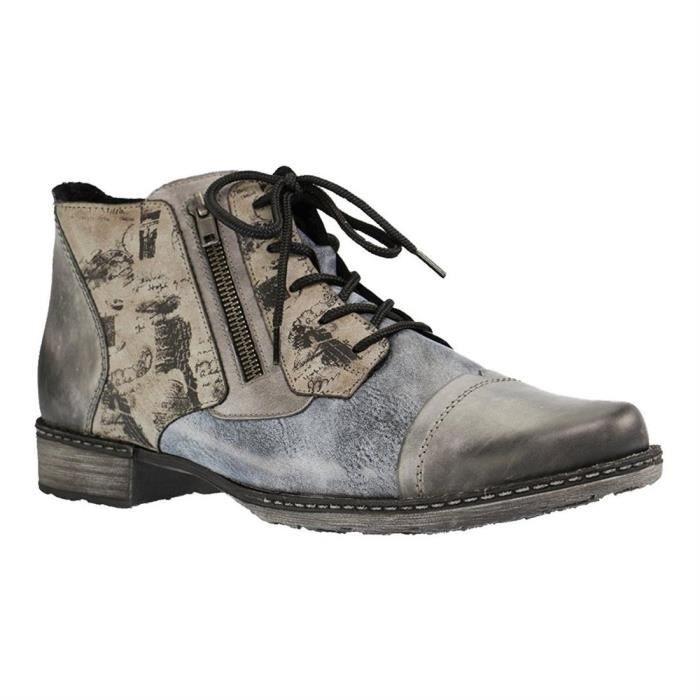 Bottines low boots d4378 femme remonte d4378 Noir Achat