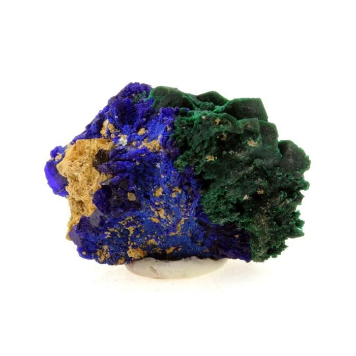 Pierre -Chessylite ( Azurite ). 25.15 ct. Chessy-les-Mines, Rhône, France. Rare