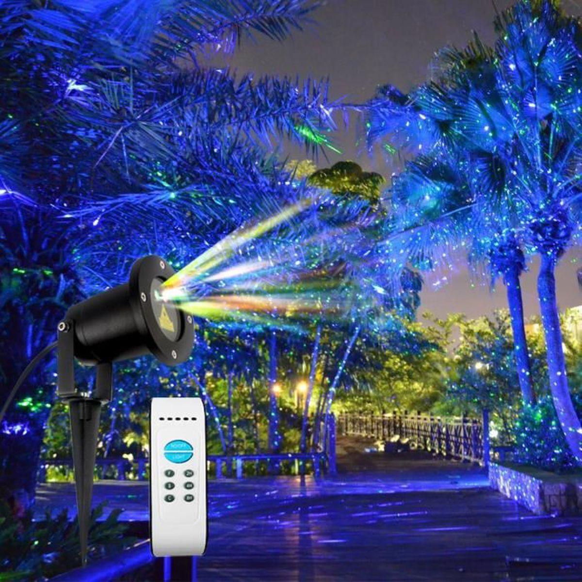 Deco De Noel Dans Le Jardin ip65 résistant à l'eau rgb led lumières de noël projecteur