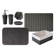 SERVITEUR WC GELCO Lot 4 Accessoires + TAD + Tapis Trendy carbo