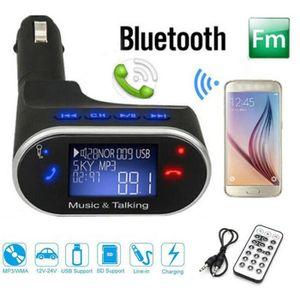 Récepteur audio LCD sans fil Bluetooth kit de voiture lecteur MP3