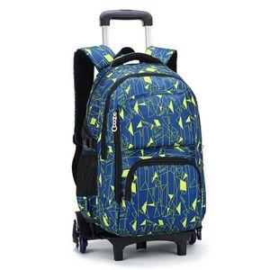 Trolley Bag Cadeaux Rentree Scolaire Noel Sac /à Dos Scolaire avec roulettes Fille Primaire Sac /à Dos de Voyage Cartable /à roulettes Noir 2 Roues