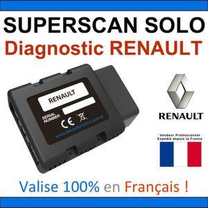 OUTIL DE DIAGNOSTIC DEC SuperScan Solo RENAULT - Valise Diagnostic BLU