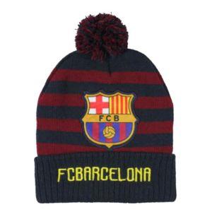 BONNET - CAGOULE Bonnet à pompon FC Barcelone enfant bleu rouge Tai