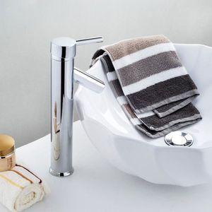 ROBINETTERIE SDB Mitigeur haut Tréo, en laiton chromé pour vasque à
