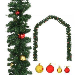 GUIRLANDE DE NOËL Guirlande de Noël Décorée avec Boules 5 m - 450 Br