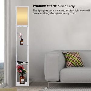 LAMPADAIRE Lampe de plancher en chêne en tissu moderne en boi