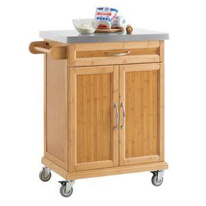 DESSERTE - BILLOT SoBuy® FKW13-N Desserte de cuisine Table Roulante