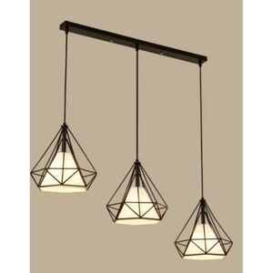 LUSTRE ET SUSPENSION Lustre  Suspension Cage Forme Diamant Contemporain