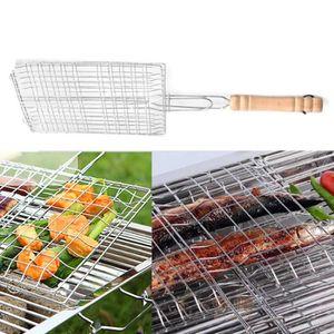 2 pièces fischgriller poisson Rôtissoire Grill Grille Poisson Barbecue Grille Best 42 cm
