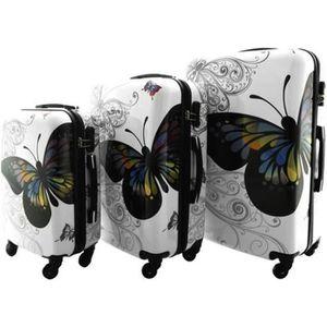 SET DE VALISES Butterfly | Set 3 Valises Voyage/ Bagages soute/ca
