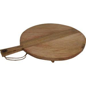 PLANCHE A DÉCOUPER Planche de bois et Serviermahlzeiten - rond avec p