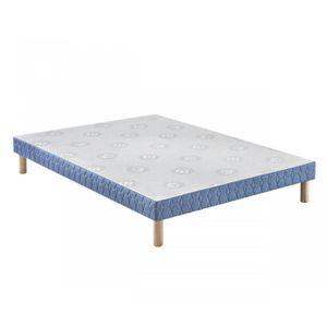 SOMMIER Sommier Merinos Confort Ferme 14 cm 200x200 Bleu