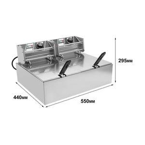 FRITEUSE ELECTRIQUE Friteuse Electrique en acier inoxydable (Double Cy