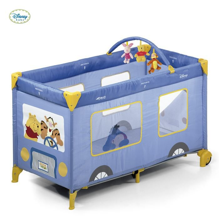 winnie l 39 ourson lit parapluie dnp go pooh bus violet achat vente lit pliant 4007923606148. Black Bedroom Furniture Sets. Home Design Ideas