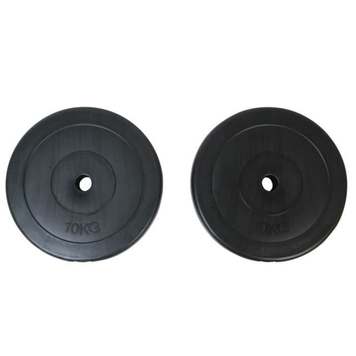 ASHATA Plaques de poids 2 x 10 kg