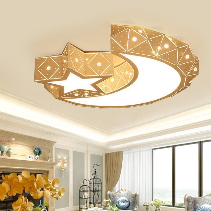Acrylique Star Moon LED Plafonnier Luminaire Chambre Enfants Lampe Chambre Lumière avec Télécommande