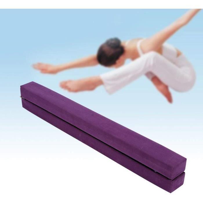 210mm Poutre Equilibre de Gym Pliable Enfants et Adultes Entraînement de Gym à Domicile Violet