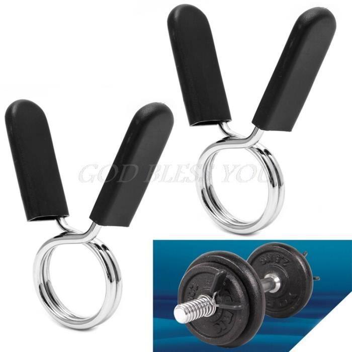 Barbell serrure 2 pièces 28mm haltère gymnastique barre de levage de poids haltère serrure pince ressort collier Clips l CC8041