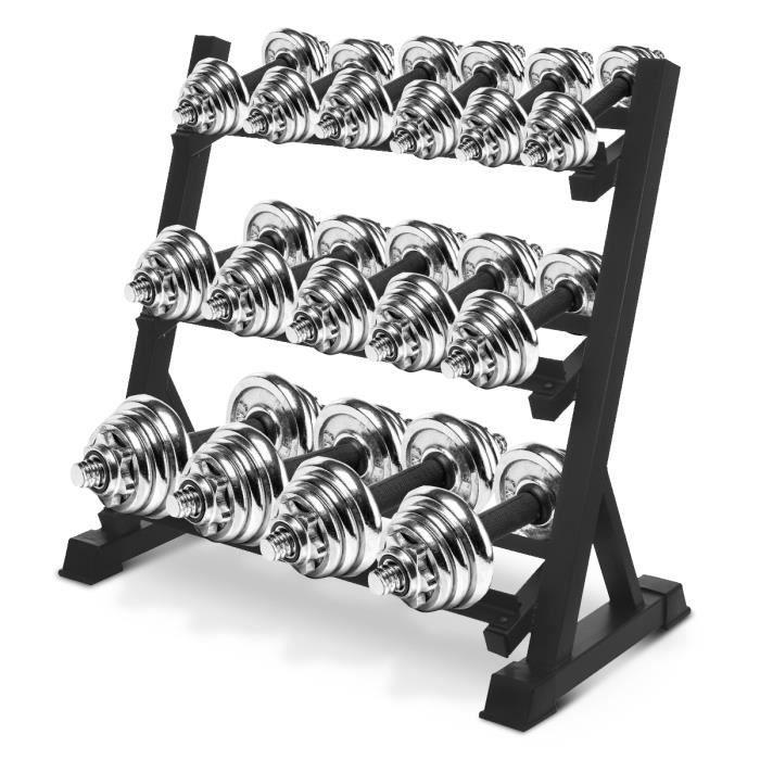 Rack de Rangement Pour Poids Support pour Haltères 3 niveaux standard