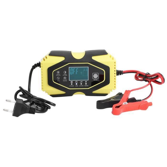 Atyhao Accessoire de voiture Chargeur Rapide AGM Réparation de Batterie de Voiture de Moto 12V 6A 24V 3A 100V‑240V EU Plug