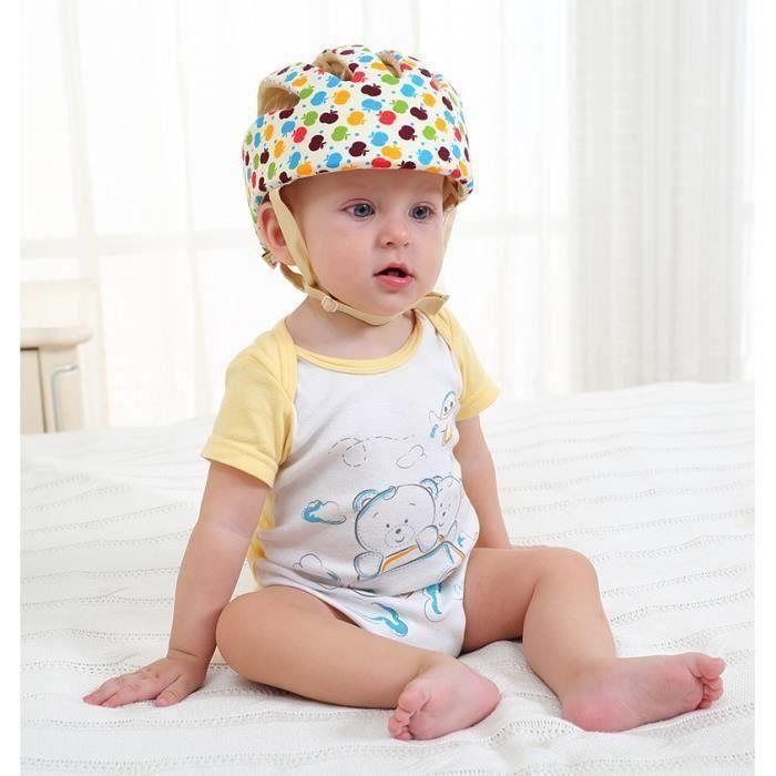 Bébé Sécurité Casque De Protection Anti-choc pour Bébés Enfants Garçons Filles Coton Infantile Protection Chapeaux Enfants -Pomme