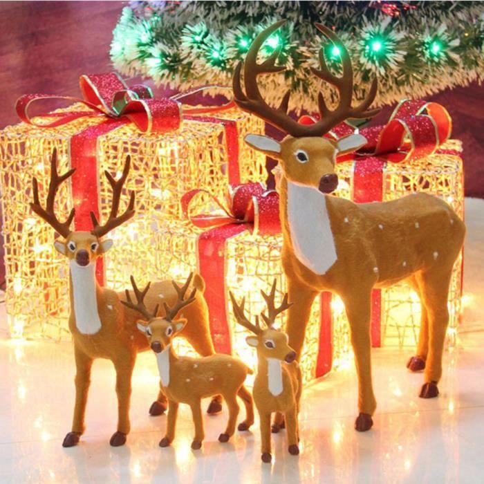 Rennes Noël cerfs Xmas boutique vitrine étalage de décoration