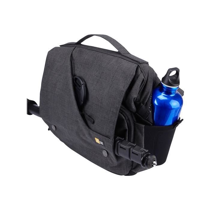 Case Logic Reflexion DSLR + iPad Small Cross-body Bag Étui pour appareil-photo avec objectifs et tablette polyester anthracite