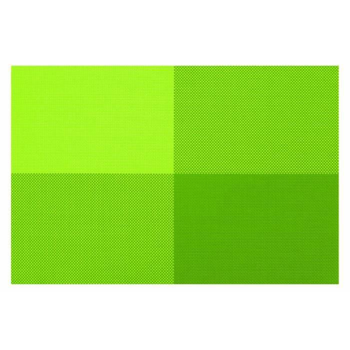 contento 656160 Zarah Set de Table Rectangulaire Plastique Vert 45 x 30 x 10 cm Lot de 4