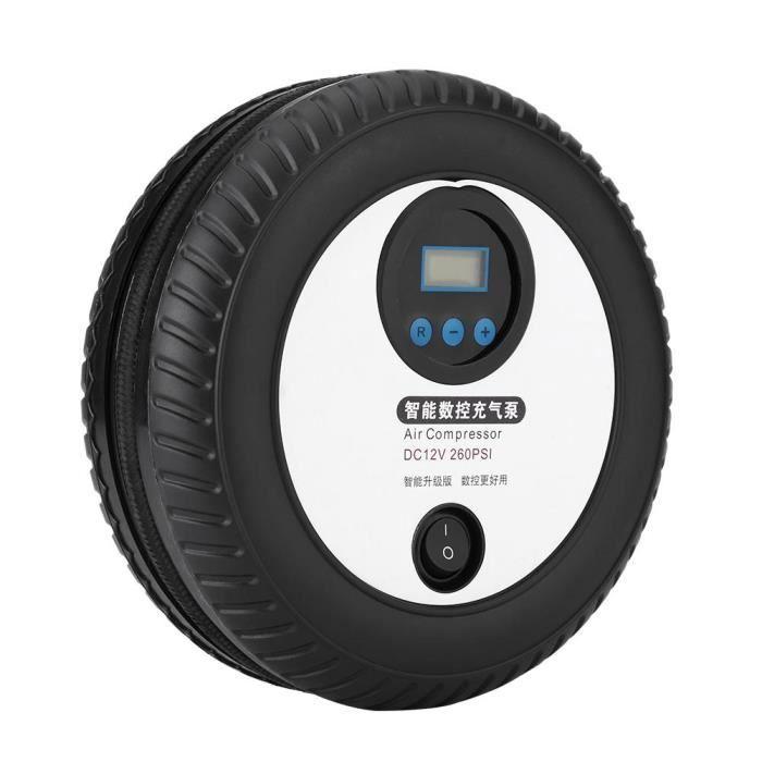 Fafeicy pompe de pneu Compresseur d'air de pompe de gonflage de pneu de voiture portable numérique 12V 260PSI pour bateau à air de