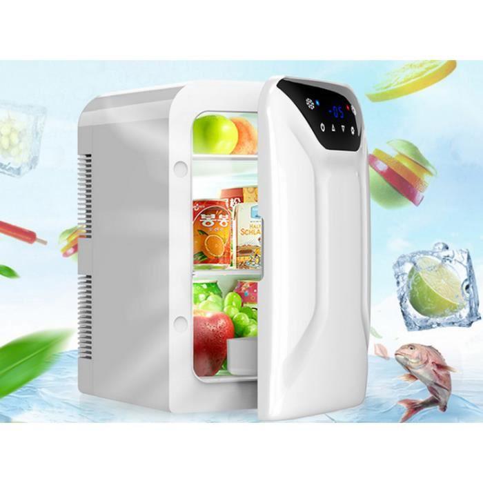 16L Mini Réfrigérateur Pour Voiture Maison Double Usage Mini Congélateur
