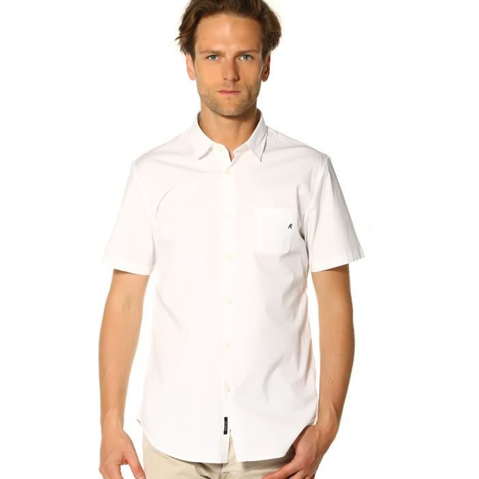 Replay Chemise Homme - M4950 80279A.001_BLANC