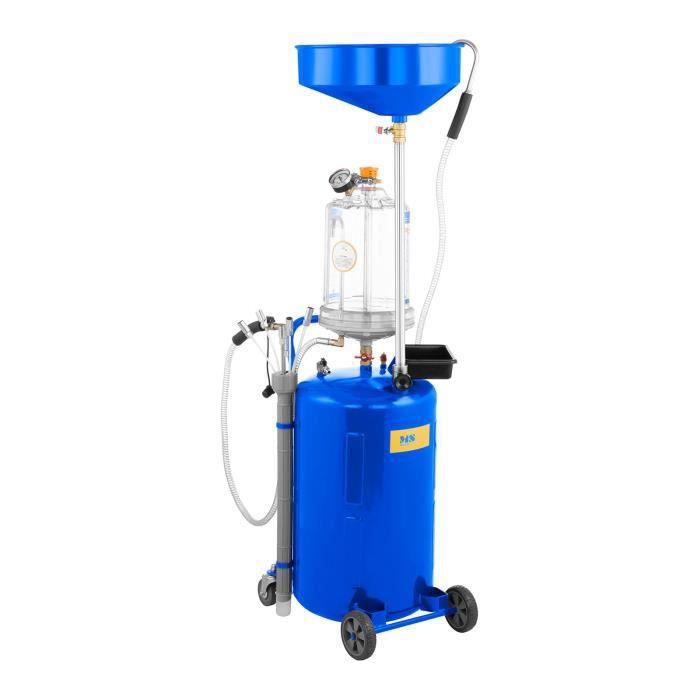 MSW Extracteur d'huile moteur Pompe de vidange huile moteur usée 40 - 60 °C 9 bars 75L 6 sondes d'aspiration MSW-OBG80D
