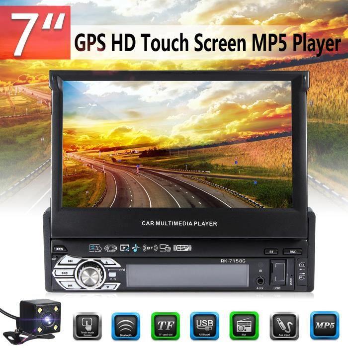 NEUFU 7'' 1DIN Bluetooth Voiture Autoradio GPS Navi Stereo MP3MP5 USB AUX FM Radio