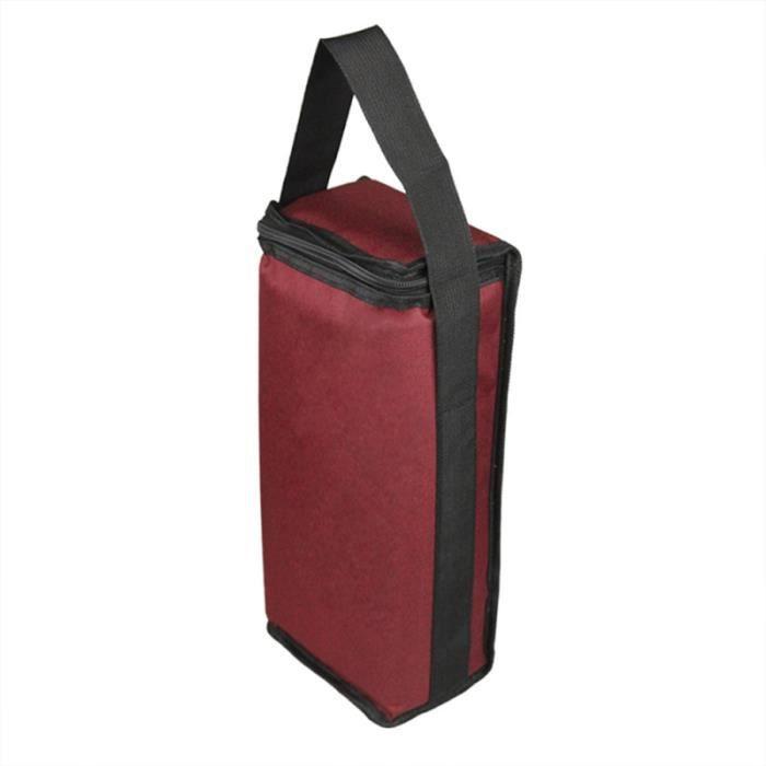 Sac isotherme de 2 bouteilles de vin de transporteur de sac de voyage de pour le pique-nique de camping de ETIQUETTE ALIMENTAIRE