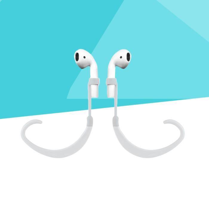 Support de casque sans fil support anti-perte de silicone réglable pour Apple AirPods écouteurs (blanc) MANETTE JEUX VIDEO