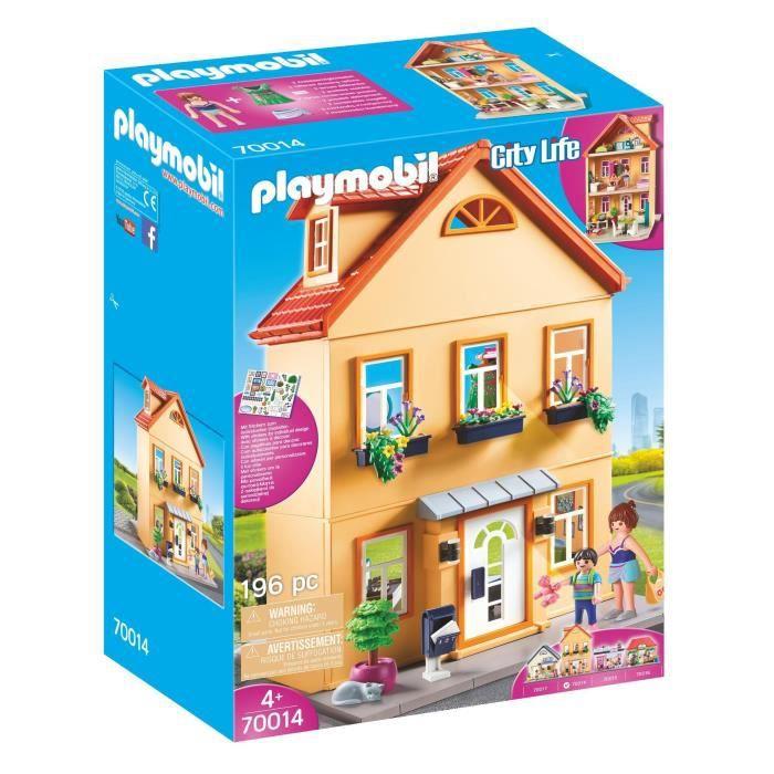 PLAYMOBIL 70014 - City Life La Ville - Maison de ville à personnaliser