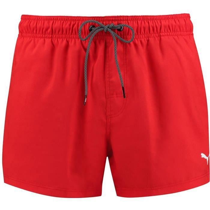Short de bain PUMA -Coupe courte- Rouge