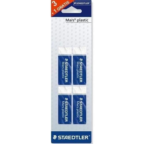 STAEDTLER - Blister de 4 gommes blanches sans latex Mars® plastic