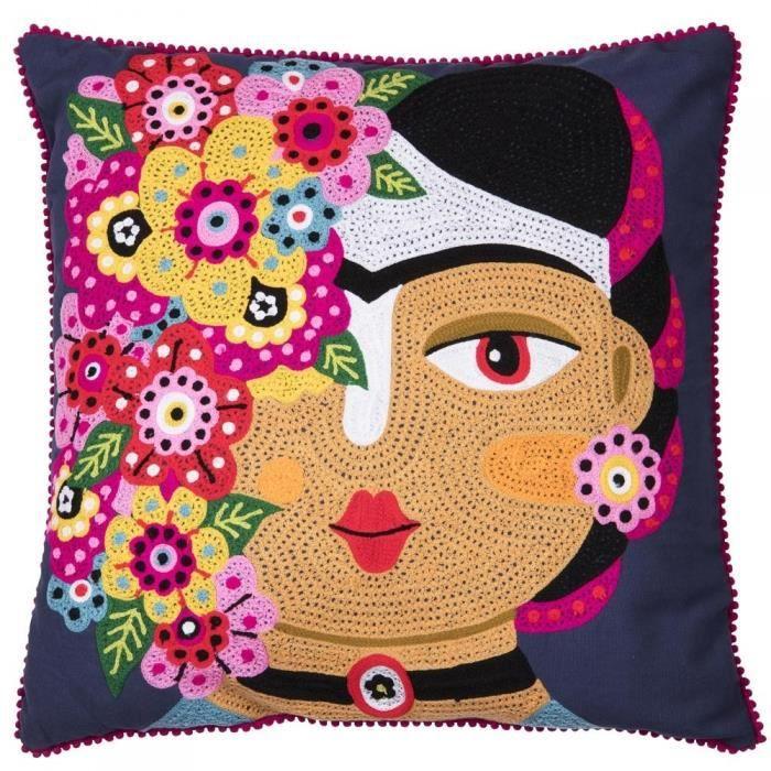 Coussin belle de nuit 45x45 cm - Table Passion Multicolore