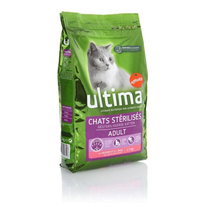 Croquettes thon - chat stérélisé 1.5 kg Ultima