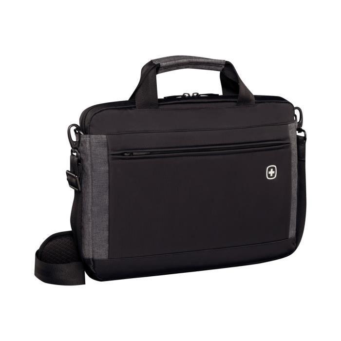 WENGER INCLINE Sacoche pour ordinateur portable - 14- - Noir et gris