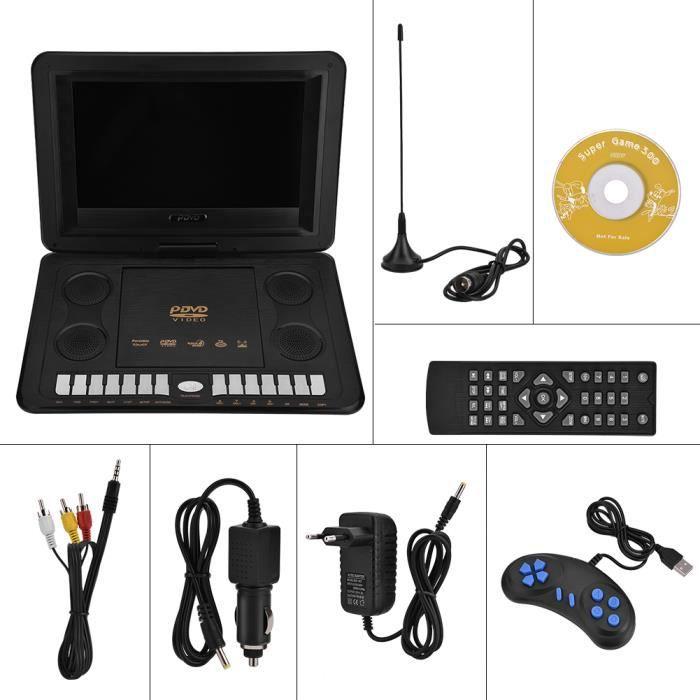 110-240V 13.8- Lecteur DVD portable 800 * 480 Prise en charge SVCD VCD CD Lecteur CD-R - RW EU