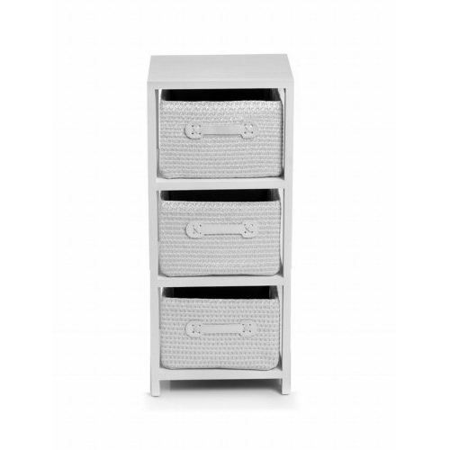 meuble 3 tiroirs blanc phoenix ateca achat vente. Black Bedroom Furniture Sets. Home Design Ideas