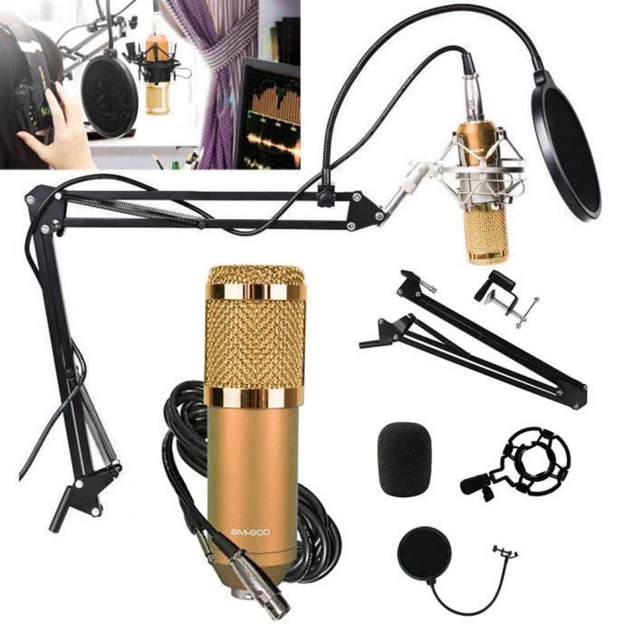 INTERFACE AUDIO - MIDI Kit Microphone à condensateur professionnel Ensemb