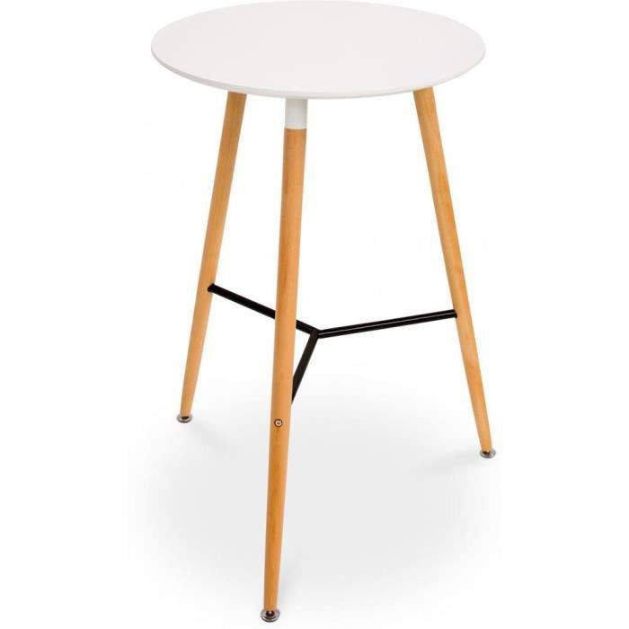 table style dsw pour tabouret de bar blanc achat vente mange debout table style dsw pour. Black Bedroom Furniture Sets. Home Design Ideas